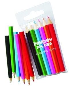 P1107 6 pack Kids Promotional Colouring Pencils