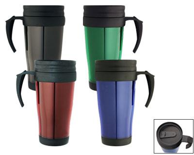 M 01 Polo Plastic Insulated Promotional Travel Mugs