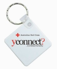 KP601 Promotional Durasoft Keyrings - Diamond Shaped