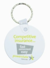KP602 Durasoft Promotional Keyrings - Round Shaped