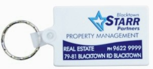 KP603 Durasoft Promotional Keyring - Rectangular Shaped