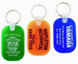 KP607 Durasoft Promotional Keyrings - Oblong Shape Translucent Colours