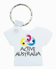 KP633 Durasoft Promotional Keyrings - T-Shirt Shape