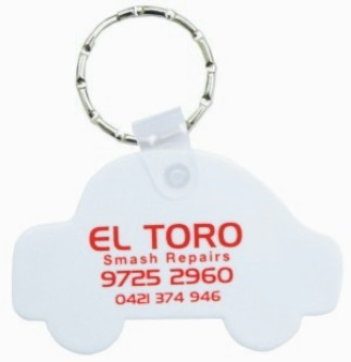 KP635 Durasoft Promotional Keyrings - Car Shape