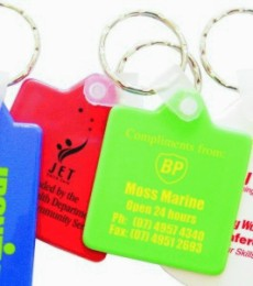 KP615 Hard plastic Square Promotional Keyings