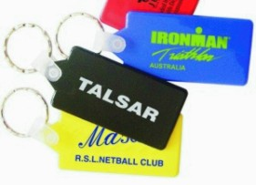 KP616 Hard Plastic Rectangular Promotional Keyrings