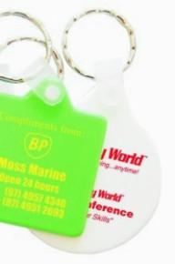 KP617 Hard Plastic Promotional Round Keyrings