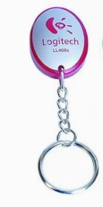 LL468s-red  Red Soft Touch Flashlight Promotional Keyrings