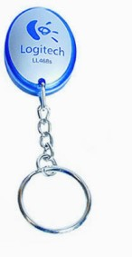 LL468s-blue  Blue Soft Touch Flashlight Promotional Keyrings
