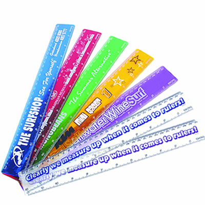 LL11s Transparent 30cm Promotional Ruler