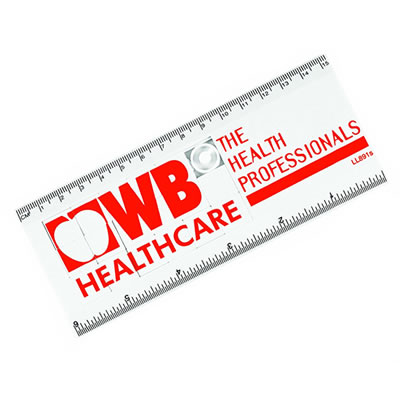 LL891s White Sliding Tile Puzzle Promotional Ruler