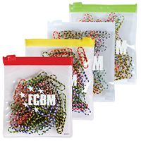 LL2539s Zebra Striped Promotional Paper Clips