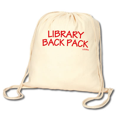 LL506s Promotional Calico Library Back Pack