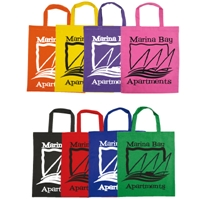 LL509s Coloured Cotton Short Double Handle Tote Bags