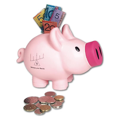 LL240s Priscilla Pink Pig Promotional Money Boxes