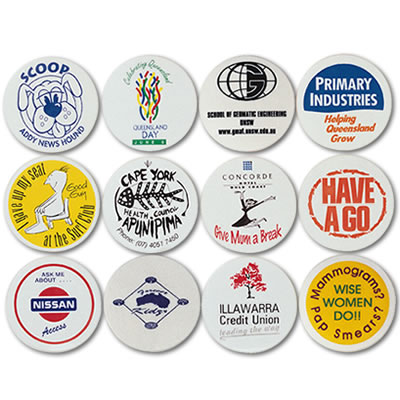 LL60s White Plastic Button Badge