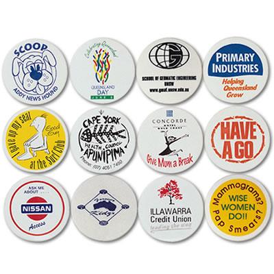 LL60s White Plastic Button Badge