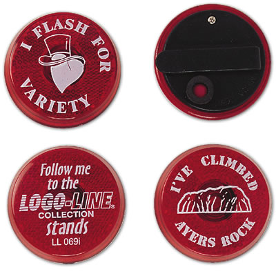LL0691s Promotional Flasher Badge