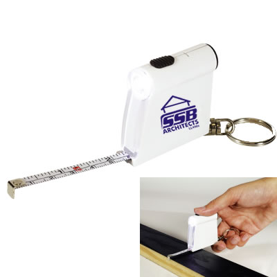 LL498s Promotional Tape Measure Flashlight Keytag