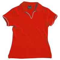 JB-2LSV V-Neck Spandex Promo Polo Shirts