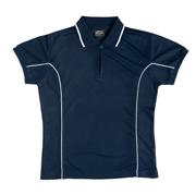 JB-7LPI Ladies Piping Poly Polo Shirts