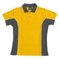 JB-7LPP Ladies Contrast Poly Polo Shirts
