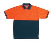 JB-6HVPS High-Vis Short Sleeve Traditional Polo Shirt