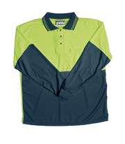 JB-6HPLE High-Vis Long Sleeve Cotton Back Polo Shirts