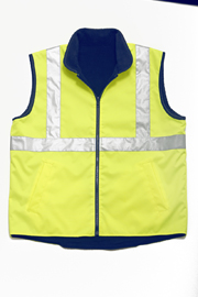JB-6DNRV Hi-Vis Reversible Vest (day + night)