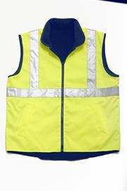 JB-6DNRV Hi-Vis Reversible Vest (day + night)
