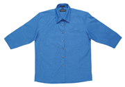 JB-4LICTX Three Quarter Sleeve Indigo Business Shirts