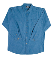 JB-4DL Long Sleeve Dress Denim Business Shirts