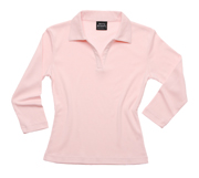 JB- 2LSF Ladies  3/4 Sleeve Promotional Polo Shirts