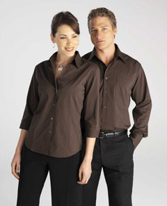 LB8425  Manhattan Stripe Business Shirts