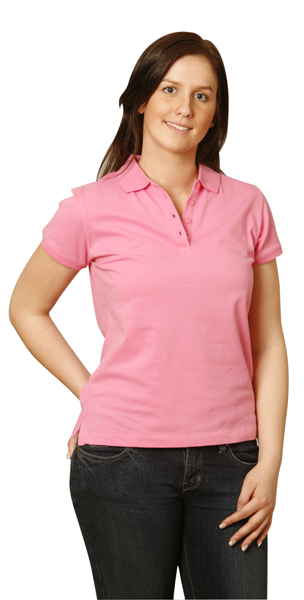 PS56 Darling Harbour - Ladies Cotton Stretch Polo Shirts