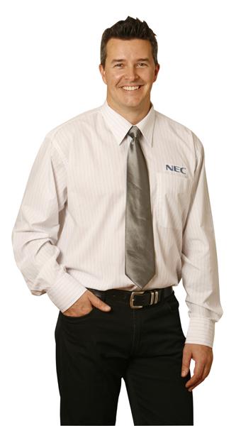 BS19 Mens Long Sleeve Check Business Shirts