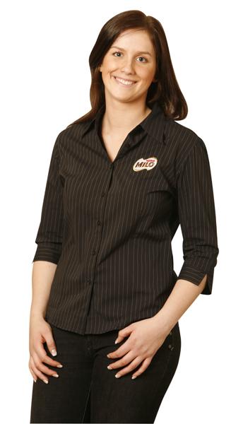 BS18 Ladies Herringbone Pin Stripe Business Shirts