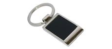 K9  Metal Promotional Keyrings with Black rectangular Centre- Engraved