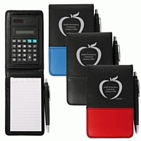 LL8576s PVC Promotional Notepad with Calculaor and Pen