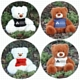 LL88120s Coco & Coconut Teddy Bear