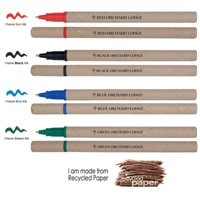 PLL115s Green Writer Recycled Paper Pen