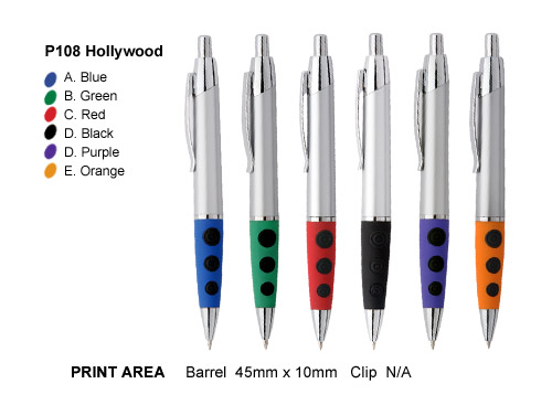 Promotional Plastic Pen</p> P108 Hollywood <p/>Quantity: 250