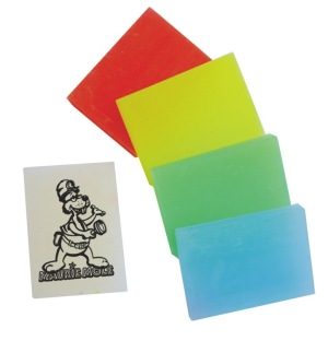 Promotional Office Supplies </p>  Flouro Erasers <p/>Quantity: 100