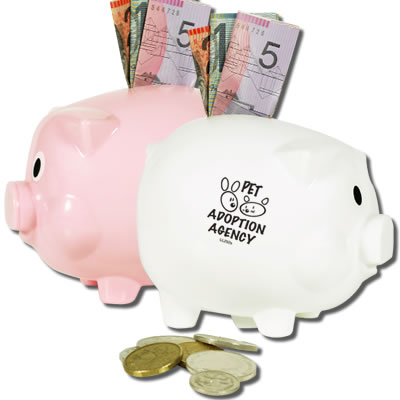 Promotional Money Boxes </p> L'll Piggy Money Box <p/>Quantity: 100