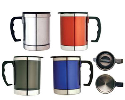 M 04  Stainless Steel/Plastic  Insulated Travel Mug