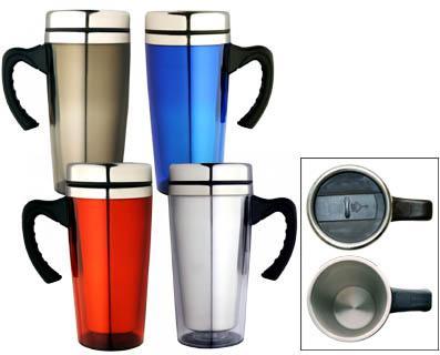M 05  Stainless Steel/Plastic  Insulated Travel Mug