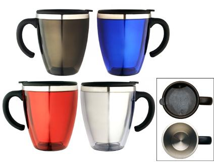 M 06  Stainless Steel/Plastic  Insulated Travel Mug