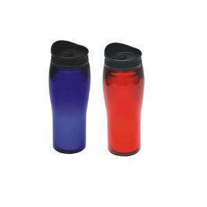 MP007  Silouette Prmotional Plastic Travel Mug