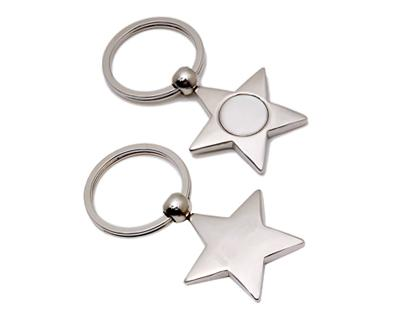 K23 Star Shape Metal Promotional Keyrings - Engraved