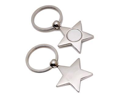 K23 Star Shape Metal Promotional Keyrings - Engraved